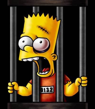 bart simpson criminel