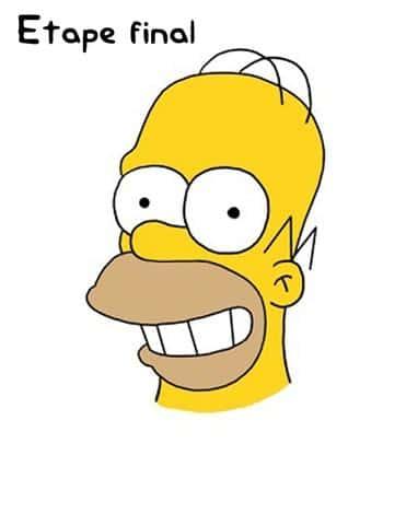 Dessin Simpson étape finale- Photo Homer Simpson