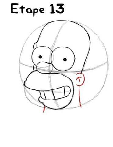 Dessin Simpson étape 13 - Photo Homer Simpson