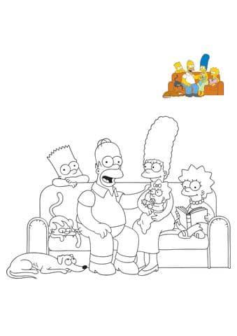 famille simpson sur le canapé