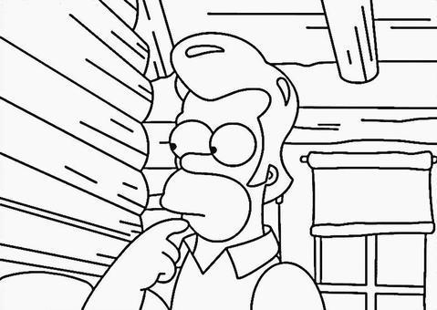 Coloriage Simpson A Imprimer Simpsonshop Toutes Les Actualits Des Simpson Et Plus Encore