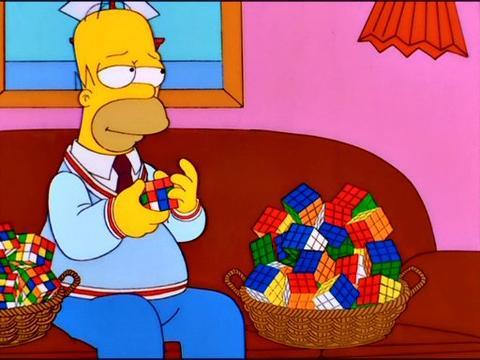 homer rubik's cube