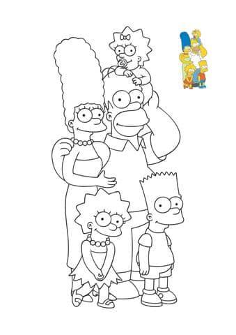 la famille simpson a colorier