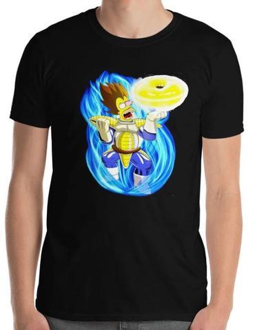 t-shirt homer le guerrier sayan