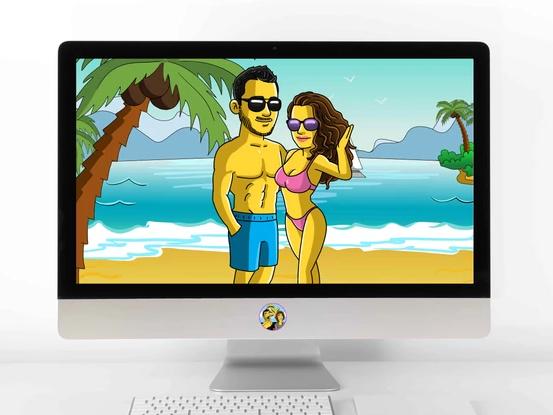 Poster Simpson personnalisé homme et femme