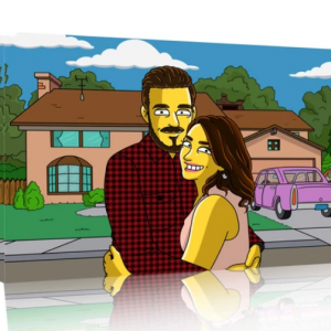 Cadre Personnalisé les Simpson