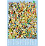 Poster Les Simpson Tous les personnages Simpson