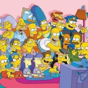 Poster Les Simpson devant la télé