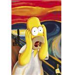 Poster Les Simpson Homer Simpson effrayé